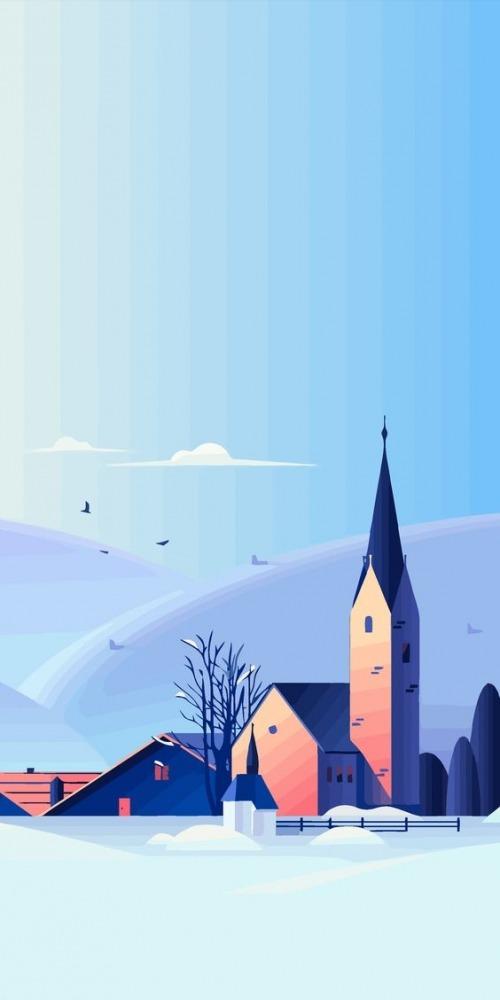 Snow Mobile Phone Wallpaper Image 1