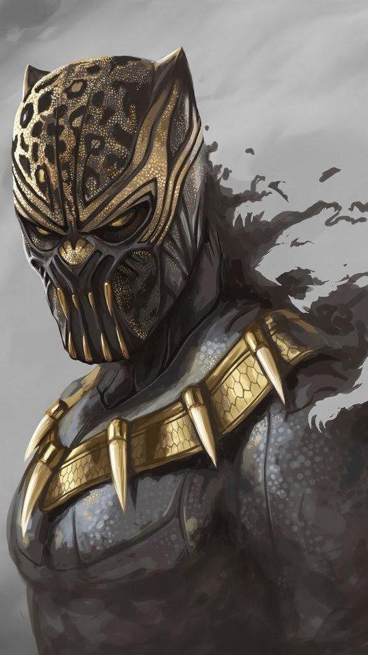Black Panther Mobile Phone Wallpaper Image 1