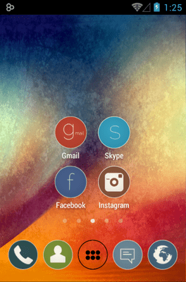 Simple Rounds Go Launcher Android Theme Image 2
