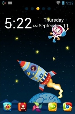Space Go Launcher Android Theme Image 1