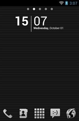 Monochromacy Black Go Launcher Android Theme Image 1