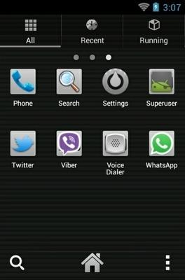 Monochromacy Black Go Launcher Android Theme Image 2