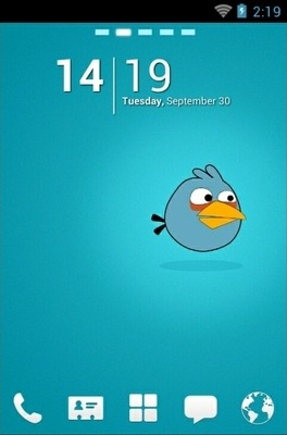 Angry Birds Blue Go Launcher Android Theme Image 1
