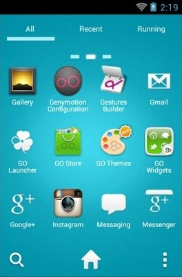 Angry Birds Blue Go Launcher Android Theme Image 2