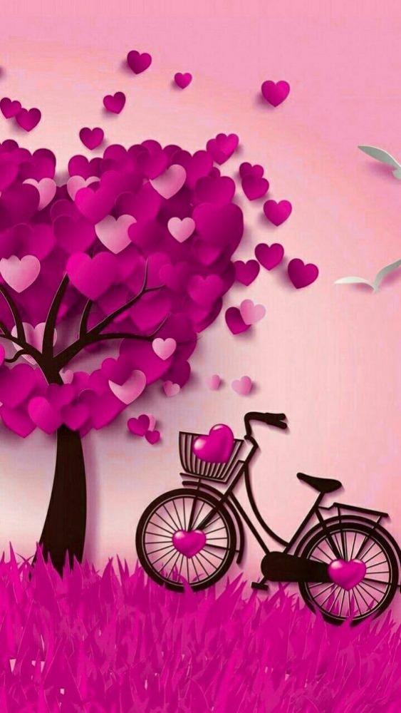 Love Bike Mobile Phone Wallpaper Image 1