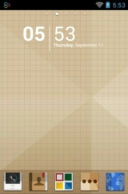 Origami Go Launcher Android Theme Image 1