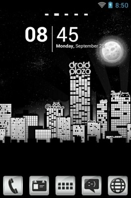 Droid City Go Launcher Android Theme Image 1