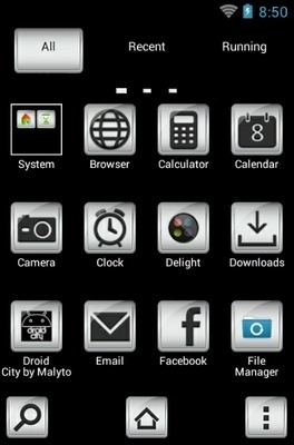 Droid City Go Launcher Android Theme Image 2