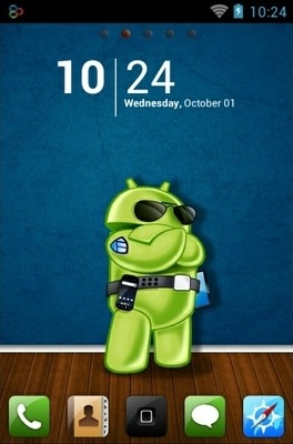 Android Style Go Launcher Android Theme Image 1