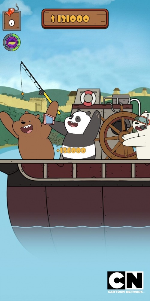 We Bare Bears: Crazy Fishing Android Game Image 1
