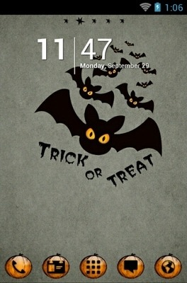 Halloween Bats Go Launcher Android Theme Image 1