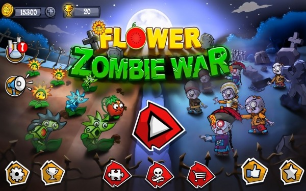 Flower Zombie War Android Game Image 1
