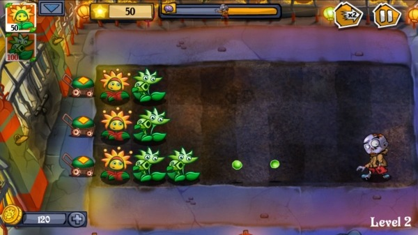 Flower Zombie War Android Game Image 2