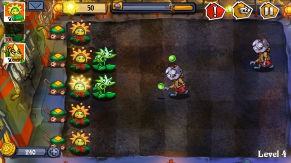 Flower Zombie War Android Game Image 3