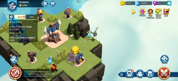 Fortress Isles: Sky War Android Game Image 3