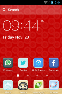 Velvet Red Hola Launcher Android Theme Image 1