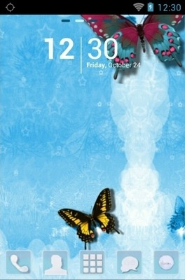 Butterfly Go Launcher Android Theme Image 1
