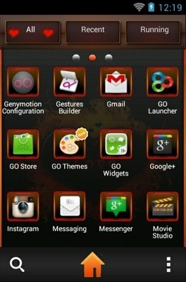 Love On Fire Go Launcher Android Theme Image 2