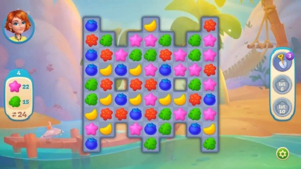 Hawaii Match-3 Mania Home Design & Matching Puzzle Android Game Image 3