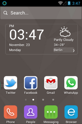 Elite Brown Hola Launcher Android Theme Image 1