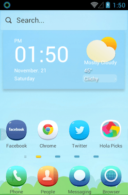 Fairy Tale Hola Launcher Android Theme Image 1