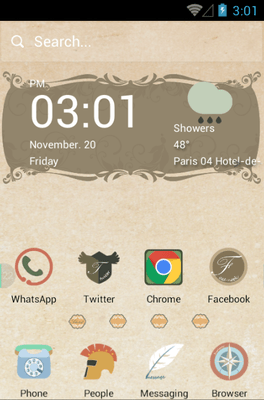 Papyrus Hola Launcher Android Theme Image 1