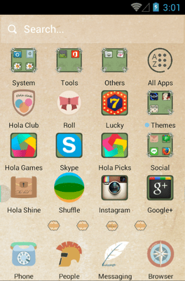 Papyrus Hola Launcher Android Theme Image 2