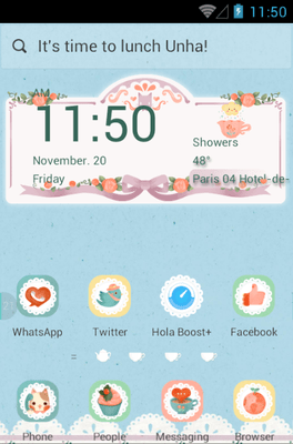 Afternoon Tea Hola Launcher Android Theme Image 1