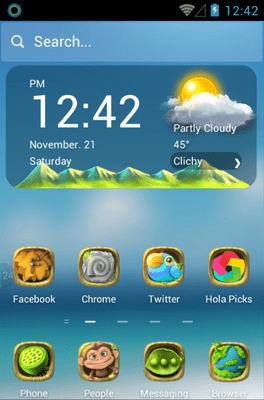 Green Planet Hola Launcher Android Theme Image 1