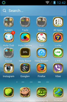 Green Planet Hola Launcher Android Theme Image 2