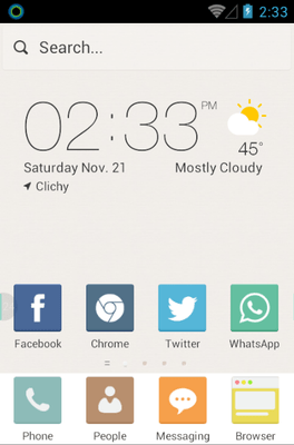 Pure Color Hola Launcher Android Theme Image 1