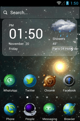 Star Trip Hola Launcher Android Theme Image 1