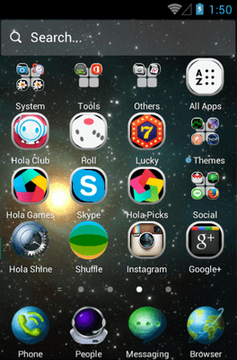 Star Trip Hola Launcher Android Theme Image 2