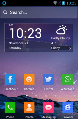 Cool Cube Hola Launcher Android Theme Image 1
