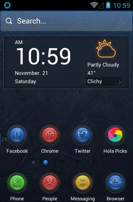 Dimension Hola Launcher Android Theme Image 1
