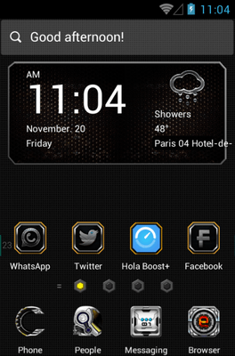 Tech War Hola Launcher Android Theme Image 1