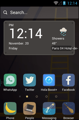 The Attic Loft Hola Launcher Android Theme Image 1