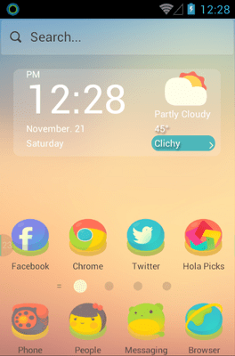 A Short Story Hola Launcher Android Theme Image 1