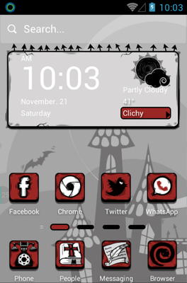 Dracula Hola Launcher Android Theme Image 1