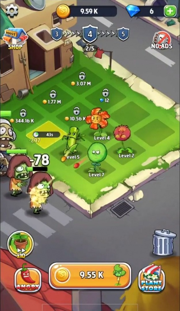 Merge Plants: Zombie Defense Android Game Image 2