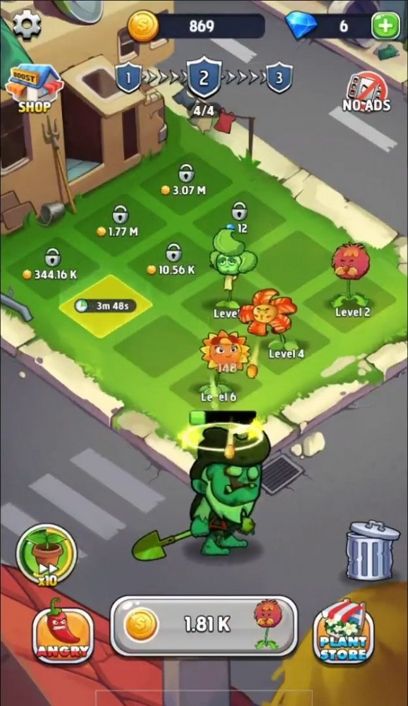 Merge Plants: Zombie Defense Android Game Image 3