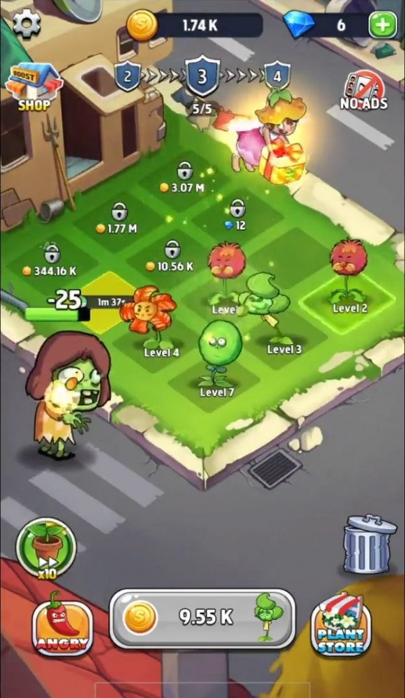 Merge Plants: Zombie Defense Android Game Image 4