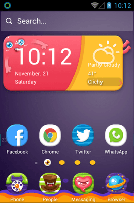 Monster Zoo Hola Launcher Android Theme Image 1
