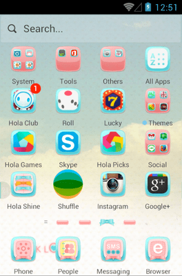 Pink Love Hola Launcher Android Theme Image 2