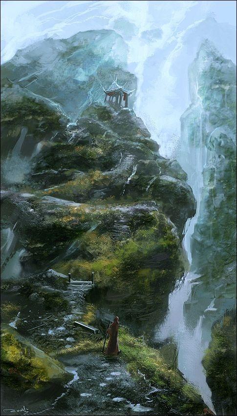 Waterfall Mobile Phone Wallpaper Image 1