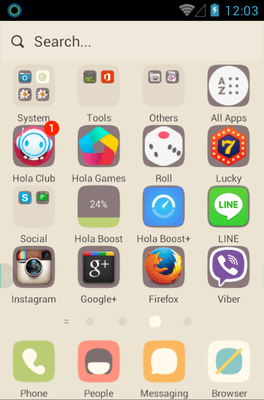 Early Spring Snow Hola Launcher Android Theme Image 2