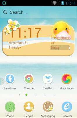 Maldives Hola Launcher Android Theme Image 1