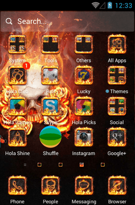 The Flame Skull Hola Launcher Android Theme Image 2