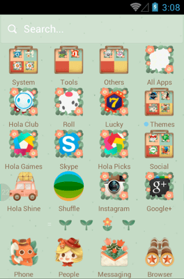The Little Adventurer Hola Launcher Android Theme Image 2