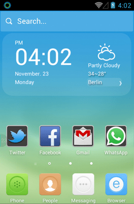 The Subtle Blue Hola Launcher Android Theme Image 1